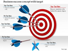 Stock Photo Arrows On Target Business Success Concept PowerPoint Slide