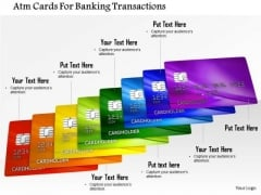 Stock Photo Atm Cards For Banking Transactions PowerPoint Slide