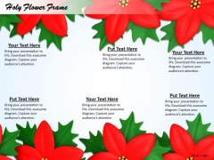 Stock Photo Background Design Of Holy Flowers PowerPoint Slide