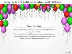 Stock Photo Background For Celebration Made With Balloons PowerPoint Slide