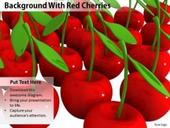 Stock Photo Background With Red Cherries PowerPoint Template
