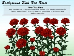 Stock Photo Background With Red Roses PowerPoint Template