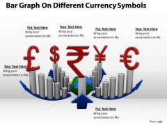 Stock Photo Bar Graph For Currency And Finance PowerPoint Slide