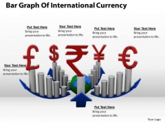 Stock Photo Bar Graph Of International Currency PowerPoint Template