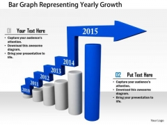 Stock Photo Bar Graph Representing Yearly Growth PowerPoint Slide