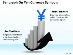 Stock Photo Bar Graph With Yen Currency Symbol PowerPoint Slide