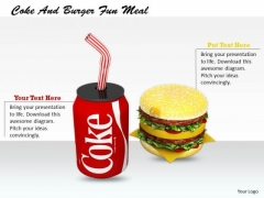 Stock Photo Basic Marketing Concepts Coke And Burger Fun Meal
