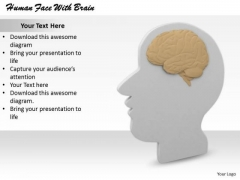 Stock Photo Basic Marketing Concepts Human Face With Brain Business Pictures