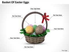 Stock Photo Basket Of Easter Eggs For Celebration PowerPoint Slide