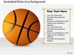 Stock Photo Basketball White Grey Background PowerPoint Slide