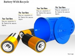 Stock Photo Battery For Recycle Conceptual Image PowerPoint Slide