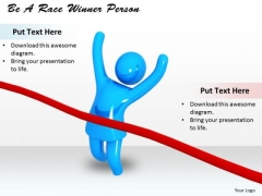 Stock Photo Be A Race Winner Person PowerPoint Template