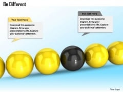 Stock Photo Be Different Concept With Balls PowerPoint Slide