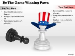 Stock Photo Be The Game Winning Pawn PowerPoint Template