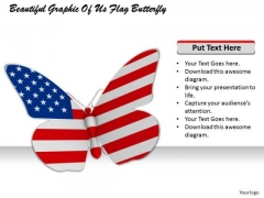 Stock Photo Beautiful Graphic Of Us Flag Butterfly PowerPoint Template