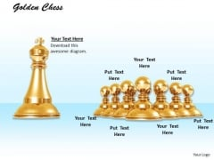 Stock Photo Big Chess King With Pawns PowerPoint Slide