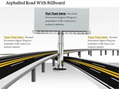 Stock Photo Billboard With Roads For Marketing PowerPoint Slide