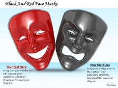 Stock Photo Black And Red Face Masks PowerPoint Template