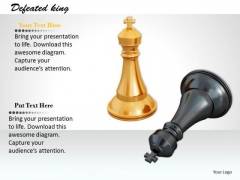 Stock Photo Black And White Chess Kings PowerPoint Slide