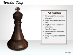 Stock Photo Black Chess Minister For Game PowerPoint Slide