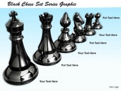 Stock Photo Black Chess Set Series Graphic PowerPoint Template