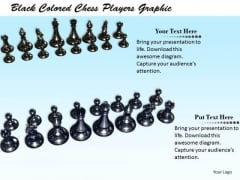 Stock Photo Black Colored Chess Players Graphic PowerPoint Template