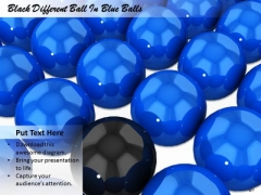 Stock Photo Black Different Ball In Blue Balls Ppt Template