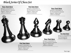 Stock Photo Black Series Of Chess Set PowerPoint Template