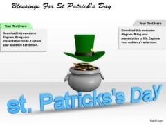 Stock Photo Blessings For St Patricks Day PowerPoint Template