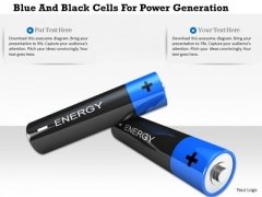 Stock Photo Blue And Black Cells For Power Generation PowerPoint Slide