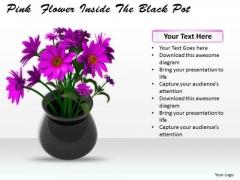 Stock Photo Bunch Of Flowers Inside Pot PowerPoint Slide