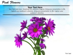 Stock Photo Bunch Of Pink Flowers PowerPoint Slide