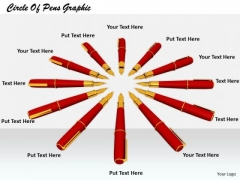 Stock Photo Business And Strategy Circle Of Pens Graphic Images Photos