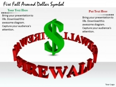 Stock Photo Business And Strategy Fire Fall Around Dollar Symbol Clipart Images