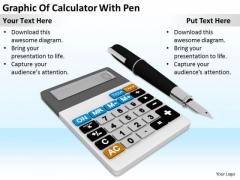 Stock Photo Business Concepts Graphic Of Calculator With Pen Pictures Images