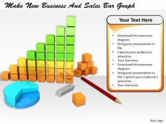 Stock Photo Business Concepts Make New And Sales Bar Graph Images Graphics
