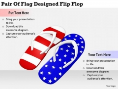 Stock Photo Business Concepts Pair Of Flag Designed Flip Flop Stock Photo Image