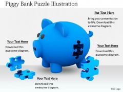 Stock Photo Business Concepts Piggy Bank Puzzle Illustration Icons Images