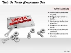Stock Photo Business Concepts Tools Under Construction Site