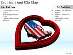 Stock Photo Business Development Strategy Template Red Heart And Usa Map Best Stock Photos