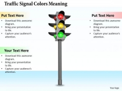Stock Photo Business Development Strategy Traffic Signal Colors Meaning Icons Images