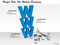 Stock Photo Business Development Strategy Useful Tools For Website Designing