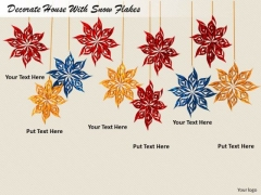 Stock Photo Business Expansion Strategy Decorate House With Snow Flakes Photos