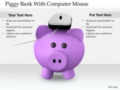 Stock Photo Business Expansion Strategy Piggy Bank With Computer Mouse Stock Images