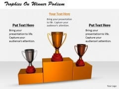 Stock Photo Business Expansion Strategy Trophies Winner Podium Icons