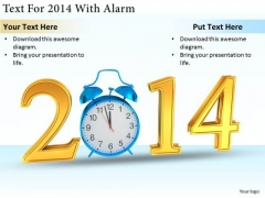 Stock Photo Business Growth Strategy Text For 2014 With Alarm Images Photos