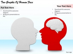 Stock Photo Business Growth Strategy Two Graphic Of Human Face Images Photos