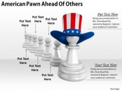 Stock Photo Business Intelligence Strategy American Pawn Ahead Of Others Clipart Images