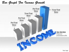 Stock Photo Business Management Strategy Bar Graph For Income Growth Stock Images