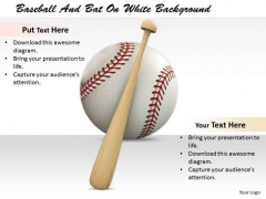 Stock Photo Business Management Strategy Baseball And Bat On White Background Stock Images